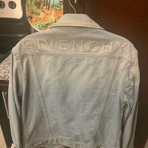 Givenchy light wash jean jacket